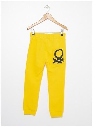 Benetton Benetton Logolu Sarı Erkek Çocuk Eşofman Altı Sarı